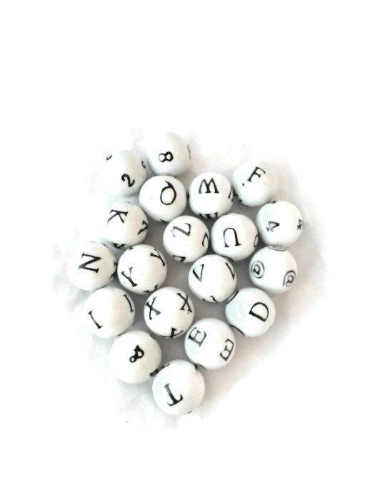 Porcelain Decorative Balls With Numbers From DerBayzVintage On Beauteous Black And White Decorative Balls