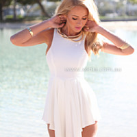 PRE ORDER - SWEETEST DAYS PLAYSUIT (Expected Delivery 6th Febuary, 2015) , DRESSES, TOPS, BOTTOMS, JACKETS & JUMPERS, ACCESSORIES, $10 SPRING SALE, PRE ORDER, NEW ARRIVALS, PLAYSUIT, GIFT VOUCHER, $30 AND UNDER SALE, SWIMWEAR,,White,JUMPSUIT Australia, Que