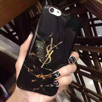 YSL Black Marble Case for iPhone