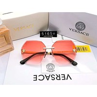 Versace 2019 new personality frameless women's gradient trimming color film polarized sunglasses #6