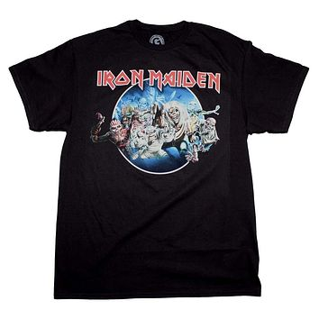 Iron Maiden Wasted Years Circle T-Shirt