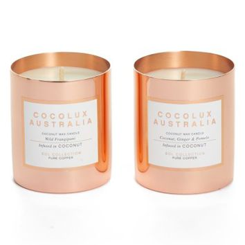 Cocolux Australia Wild Frangipani & Coconut, Ginger & Pomelo Candle Duo ($90 Value) | Nordstrom