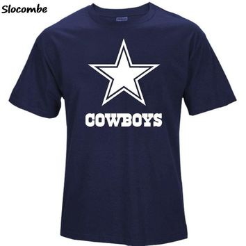 High Quality Summer Fashion Men's Cowboys Fans T-Shirt, Dallas Tees Logo Picture Printing Classical O-neck T Shirt