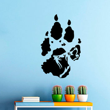 Howling Wolf  Wall Vinyl Decal Sticker Wall Decor Home Interior Design Art Mural Z518