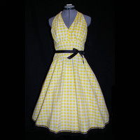 50's Style Cotton Sundress made from upcycled by UniqueRabbit