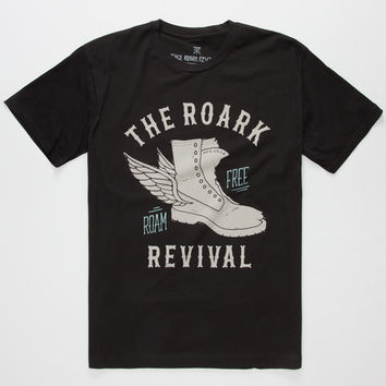 Roark Roam Free Mens T-Shirt Black  In Sizes