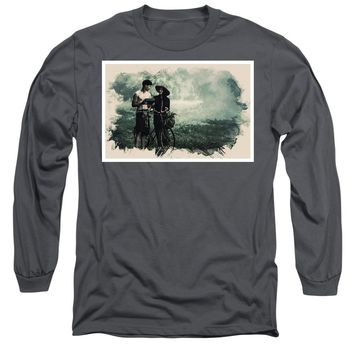 Watercolor Conseptual Landscape - Deep In The Forest - Long Sleeve T-Shirt