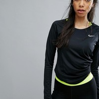 Nike Running Dry Miler Long Sleeve Top at asos.com