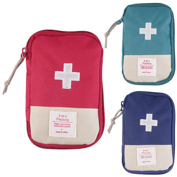 New Outdoor Camping Home Survival Portable First Aid Kit Bag Case