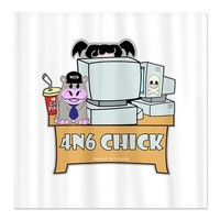 Abby 4N6 Chick Shower Curtain on CafePress.com