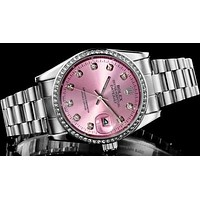 Rolex Pink Watch Women's fashion quartz watch Print Watch F