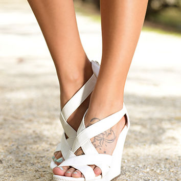 The Ella Wedge, White