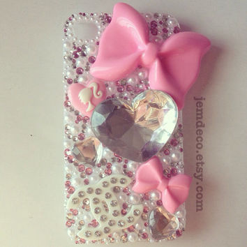 Pink Barbie bling iPhone 4/4s case