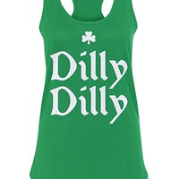 Women's Dilly Dilly ST. Patrick's Day Racerback Tank Top