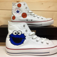 Cookie Monster Converse by CustomConverseUK on Etsy