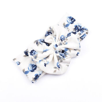 1 PCS  Fashion Baby Girls Bow Knot Elasticity Girls Headband Cotton Children Baby Hair Accessories 3 Colors YL SM6