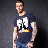 Men's Fashion Summer Men Round-neck Short Sleeve Fashion T-shirts [10488641987]