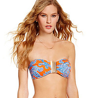 Cremieux Henna Paisley Ring Bandeau Top - Flame