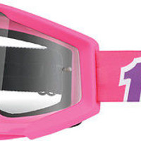 100% Motorcycle Riding Goggle Strata SVS PINK BUBBLE GUM Clear Lens 50400-077-02