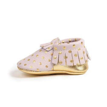 Heirloom in Blush Baby Moccasins
