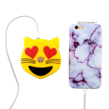 Kitty Heart Eyes Portable Charger