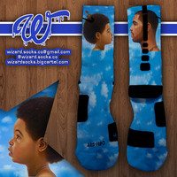 Drake Sky Custom Nike Elite Socks