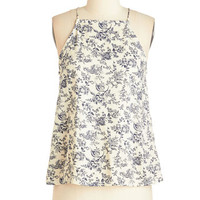 ModCloth Mid-length Racerback In the Here and Wow Top in Delft