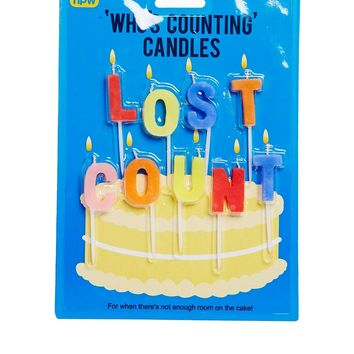 Lost Count Happy Birthday Candles