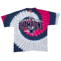 Super Bowl Champions New England Patriots Tie Dye NFL Ladies Junior Fit T-Shirt