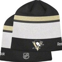 NHL Center Ice Official Team Player Knit Hat, Pittsburgh Penguins, One Size Fits All