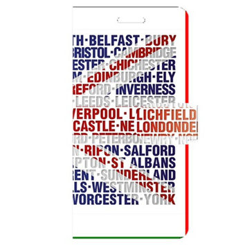 Uk City Names Flag Apple iPhone 6 Plus Leather Folio Case