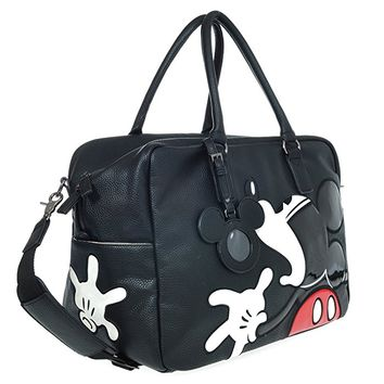 A39.Disney Mickey Mouse Men Women Travel Weekend Duffel Luggage Overnight Bag