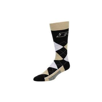NCAA Purdue Boilermakers Argyle Unisex Crew Cut Socks - One Size Fits Most