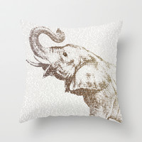 The Wisest Elephant Throw Pillow by Paula Belle Flores