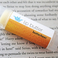 Butterbeer lip balm, natural vegan gluten-free lip butter, butterscotch vanilla wizardry