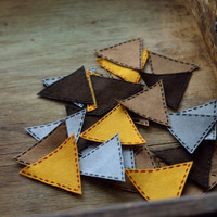 Geometry patch applique iron on Triangle patch applique, Applique for clothing Set applique patch