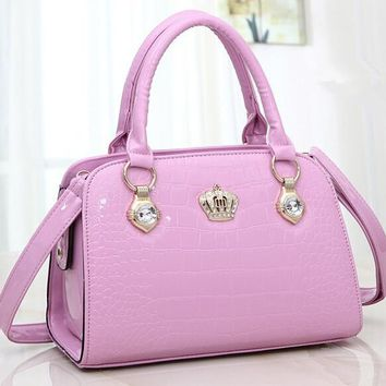 stacy bag hot sale women PU Leather handbag female fashionable tote top-handles lady candy color cross-body shoulder bag