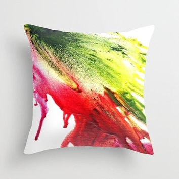 Outdoor pillow Red and green running color Double-side print Abstract color blast Pillow or pillowcase Square pillow Active and fresh