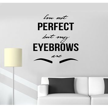 Vinyl Wall Decal Master Eyebrow Art Quote Beauty Salon Stickers Mural (g150)