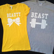 Free Shipping for US Beauty And The Beast Valentine's Day Matching Couples Tank Tops/Shirts: Different Version