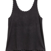 Tank Top with Scalloped Edges - from H&M