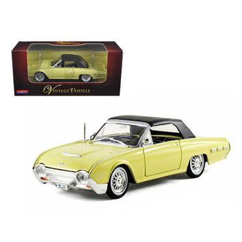 1962 Ford Thunderbird Yellow 1-32 Diecast Car Model by Arko Products
