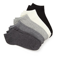 FOREVER 21 Classic Ankle Socks Pack Black/Grey One