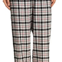 HUE Timeless Plaid Flannel Pajama Pants PJ51128 Off White XL
