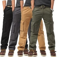 Cotton Rinsed Denim Training Luxury Outdoors Pants [9724852419]