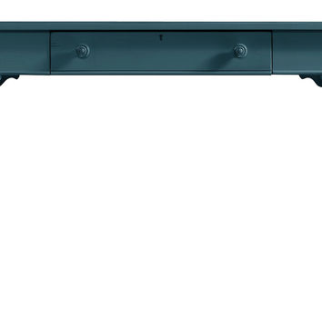 Coastal Retreat Table Desk, Blue, Standard Desks
