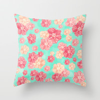 Blossoms Throw Pillow by Lisa Argyropoulos | Society6