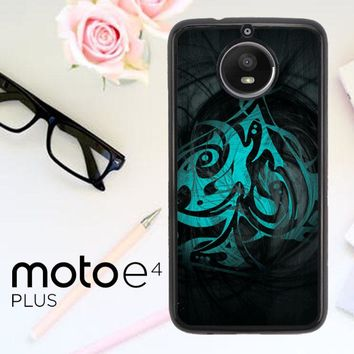 Blue Ace Of Spades R0103 Motorola Moto E4 Plus Case