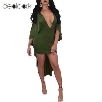 3XL Plus Size Women Bodycon Cape Dress Batwing Sleeve Wrap Dress Summer Sexy Deep V Neck Bandage Party Dresses Clubwear female