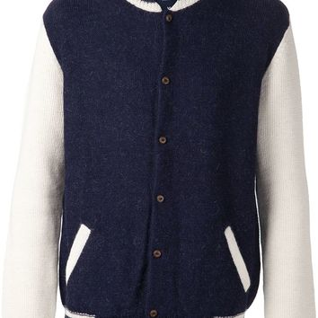 Monsieur Lacenaire teddy knit varsity jacket